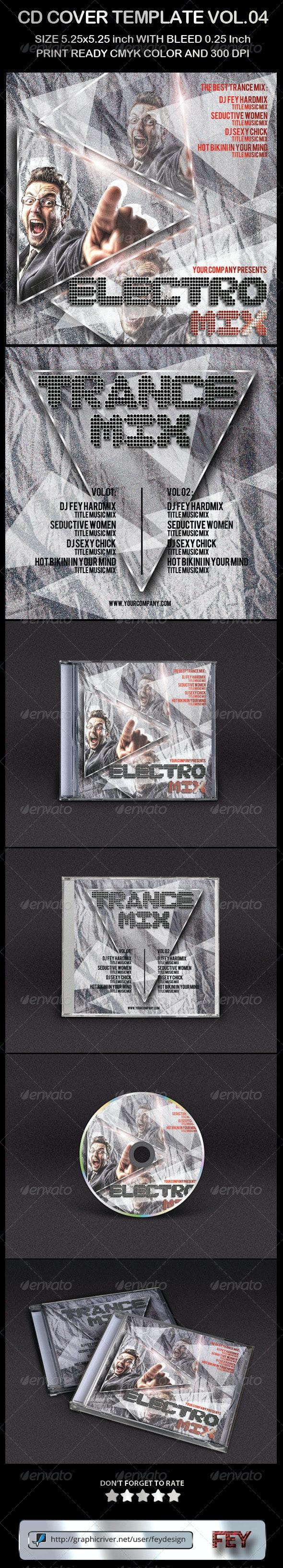 CD Cover Template Vol.04 - CD & DVD Artwork Print Templates
