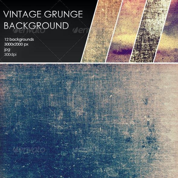 12 Vintage Grunge Backgrounds