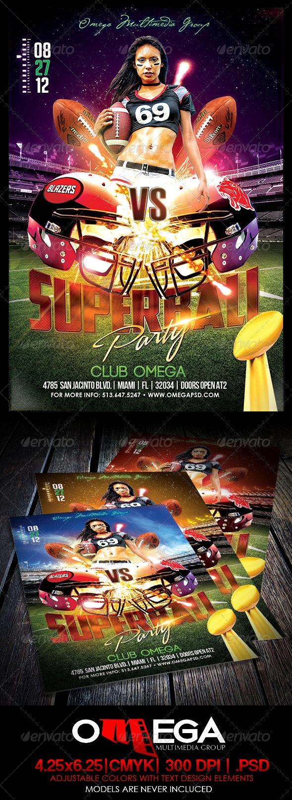 Superbowl Party  - Events Flyers