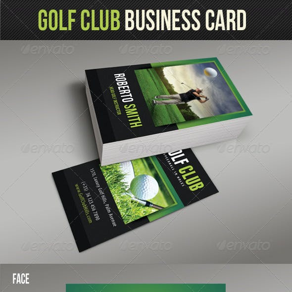 Golf Club Business Card 02