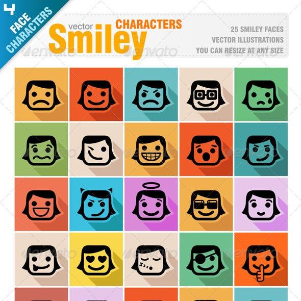 Smiley Faces Icon Set