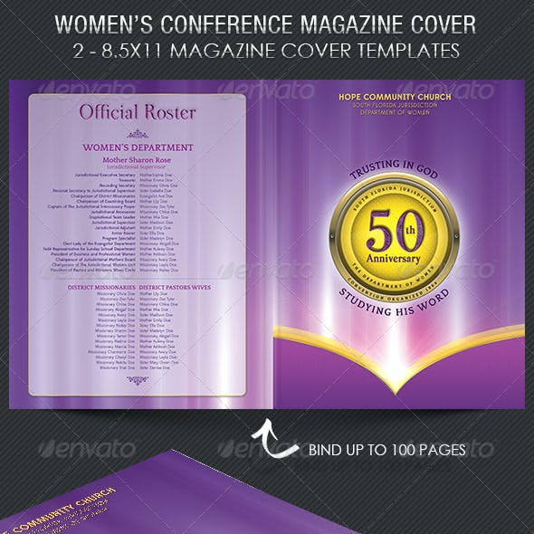Women Conference Magazine Cover Template