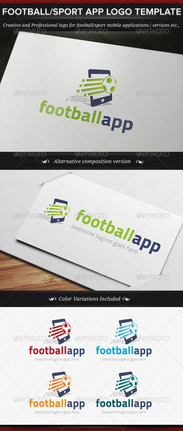 Football / Sport App Logo Template - Objects Logo Templates