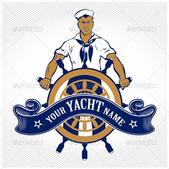 Sailor Ship Wheel Man