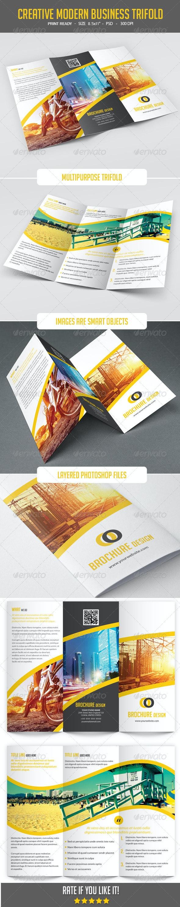 Modern Corporate Tri-Fold Brochure - Corporate Brochures