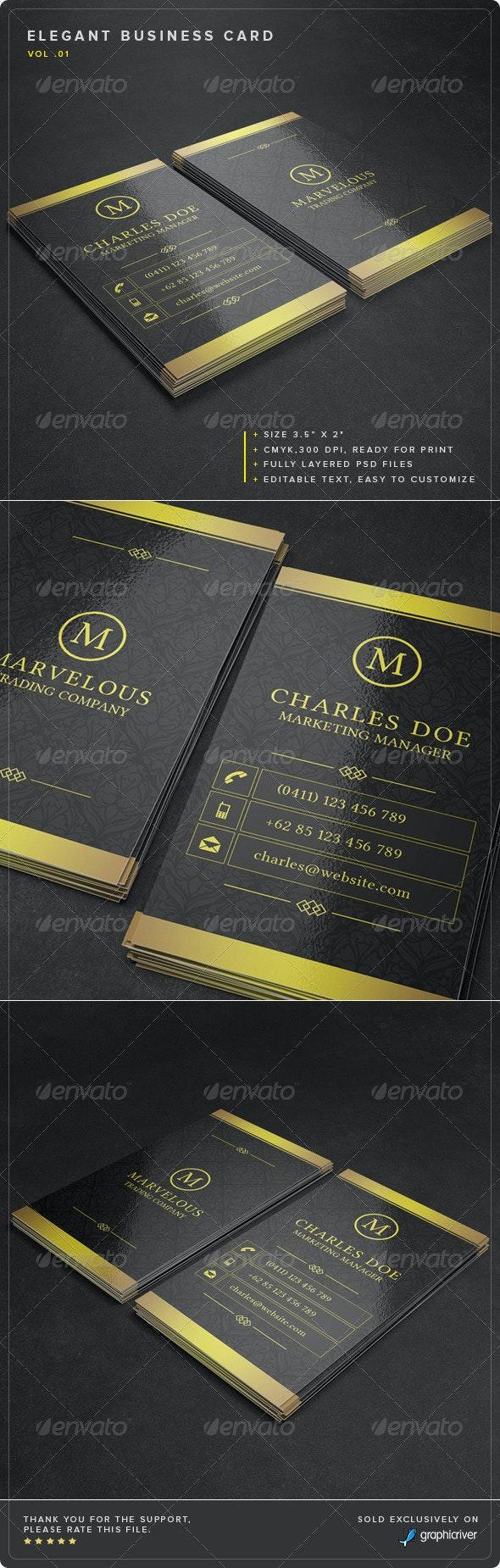 Elegant Business Card Vol. 01 - Corporate Business Cards