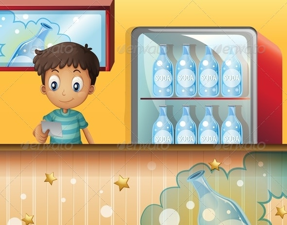 A boy in the soda shop - People Characters