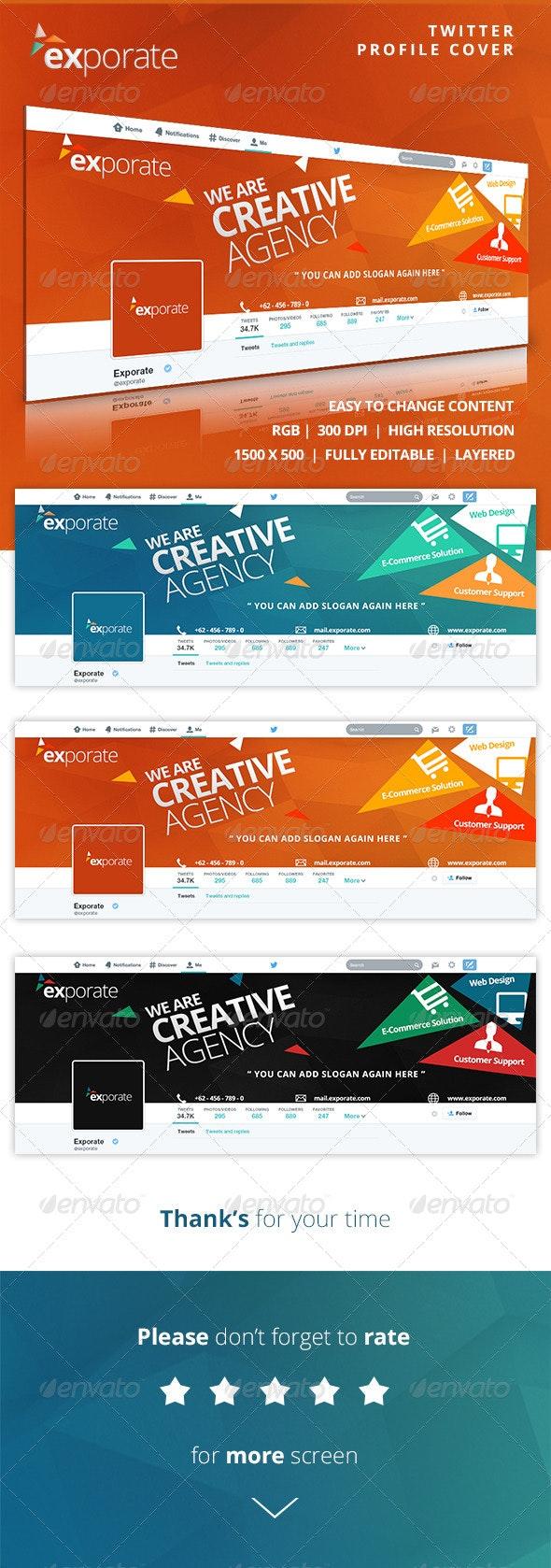 Exporate - Twitter Profile Cover - Twitter Social Media