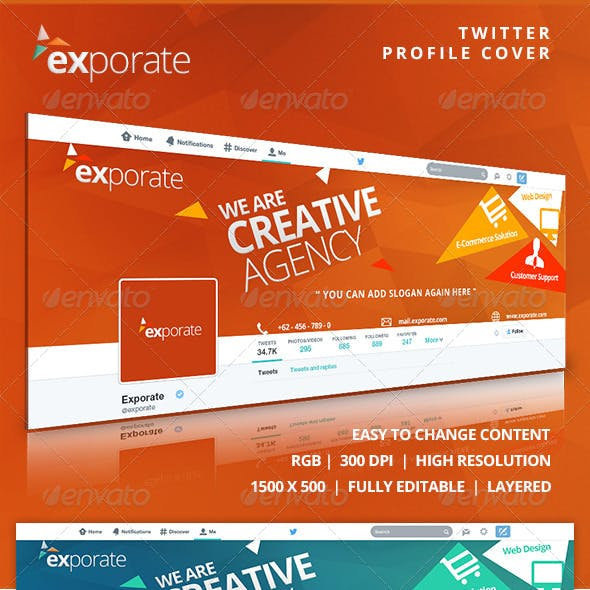 Exporate - Twitter Profile Cover