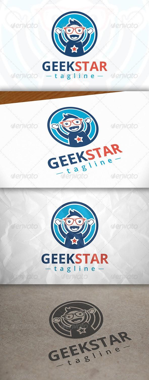 Geek Star Logo - Humans Logo Templates