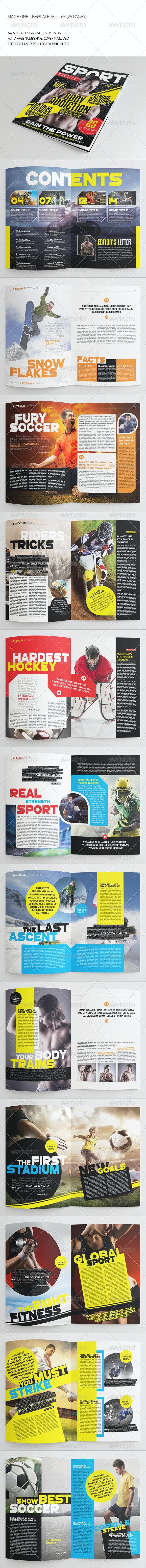 25 Pages Sport Magazine Vol65 - Magazines Print Templates
