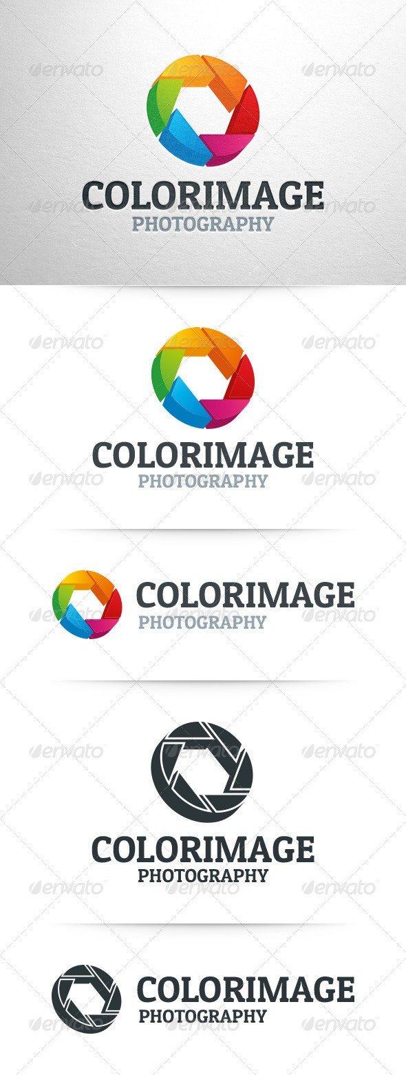 Color Image - 3D Shutter Logo - 3d Abstract