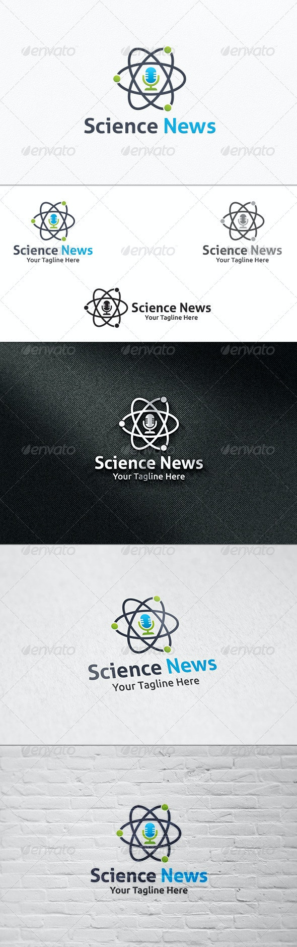 Science News - Logo Template - Symbols Logo Templates