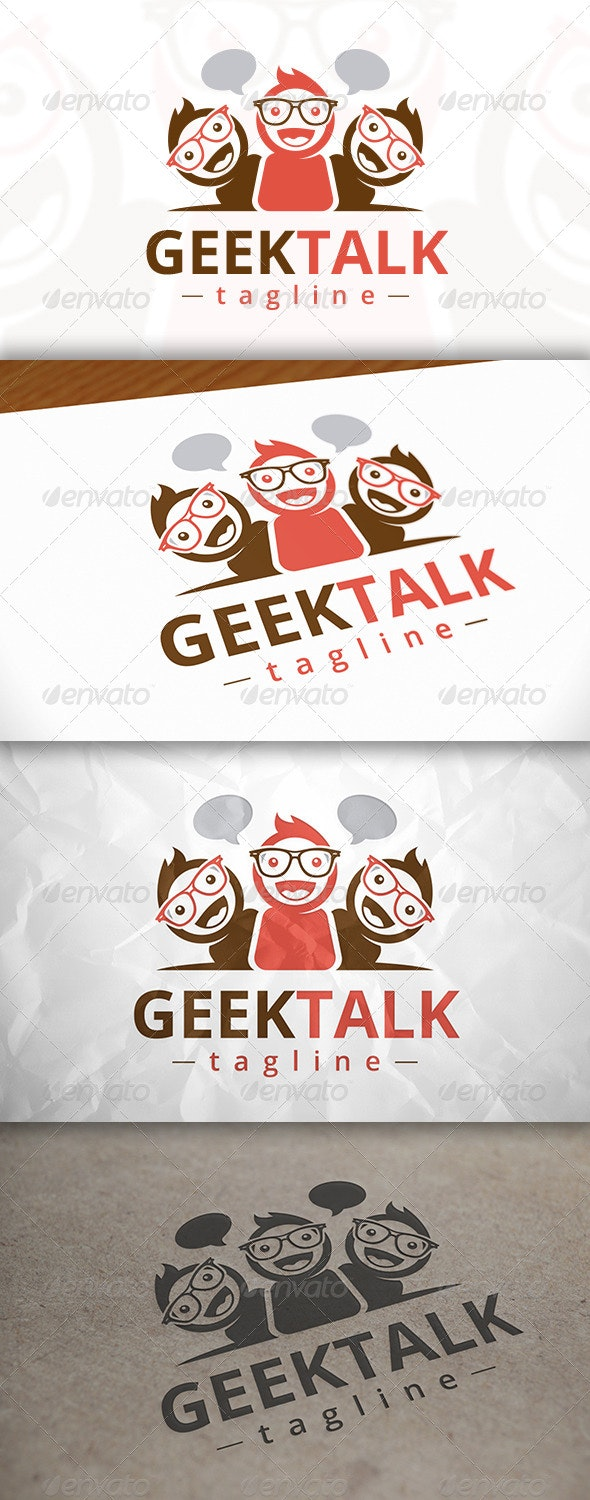 Geek Talk Logo - Humans Logo Templates