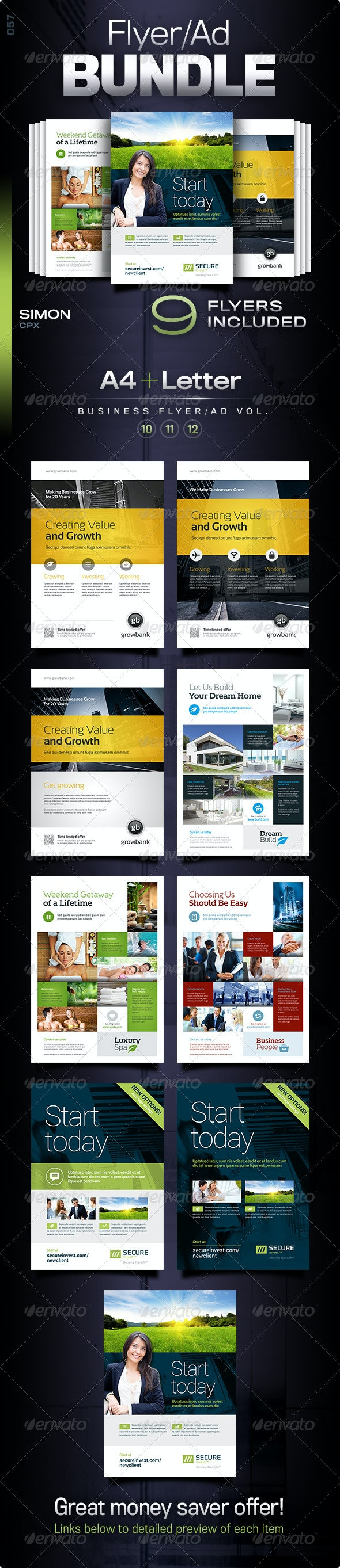 Business Flyer/Ad Bundle Vol. 10-11-12 - Corporate Flyers
