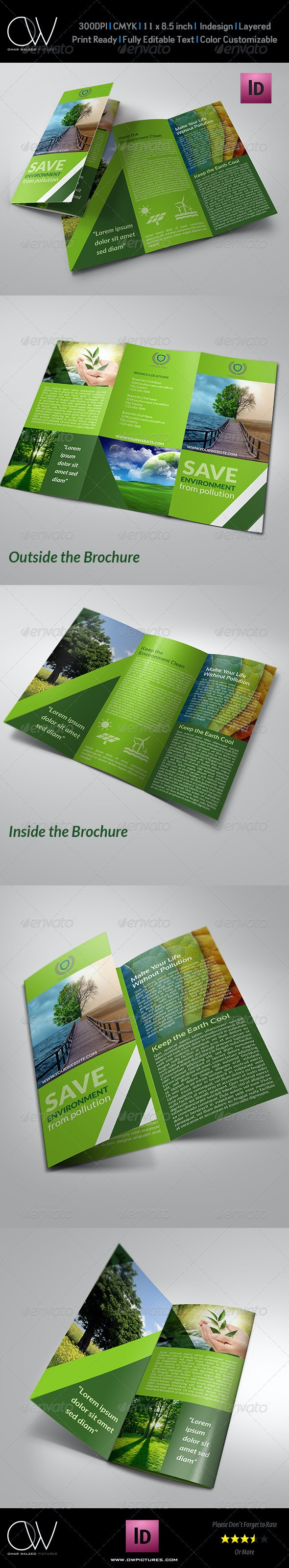 Environment Tri-Fold Brochure - Informational Brochures