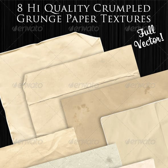 Vector Crumpled Paper Textures