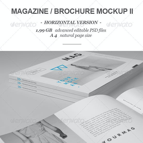 Horizontal Magazine Brochure Mock-up 2