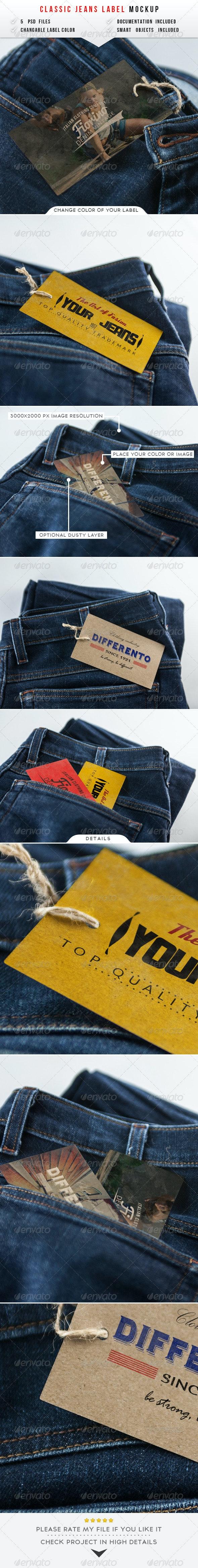 Jeans Label Mockup - Miscellaneous Print