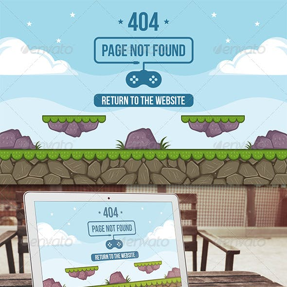 Game 404 Error Page