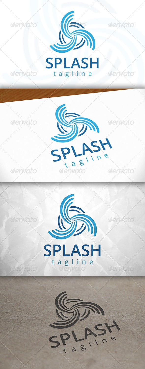Splash Logo - Vector Abstract
