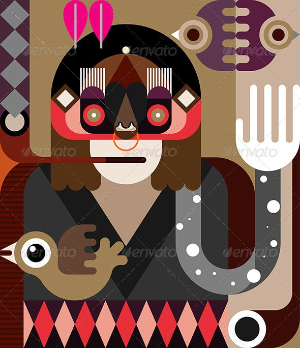 American Indian - People Characters