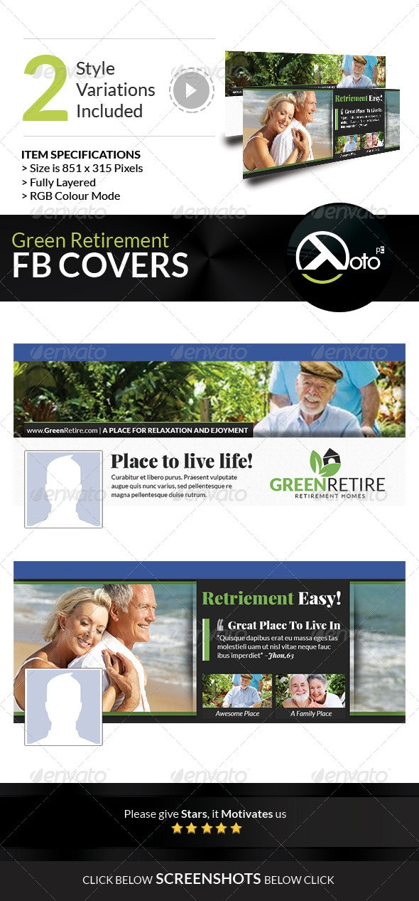 Green Retirement Homes FB Banners - Facebook Timeline Covers Social Media