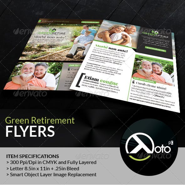 Green Retirement Homes Flyers