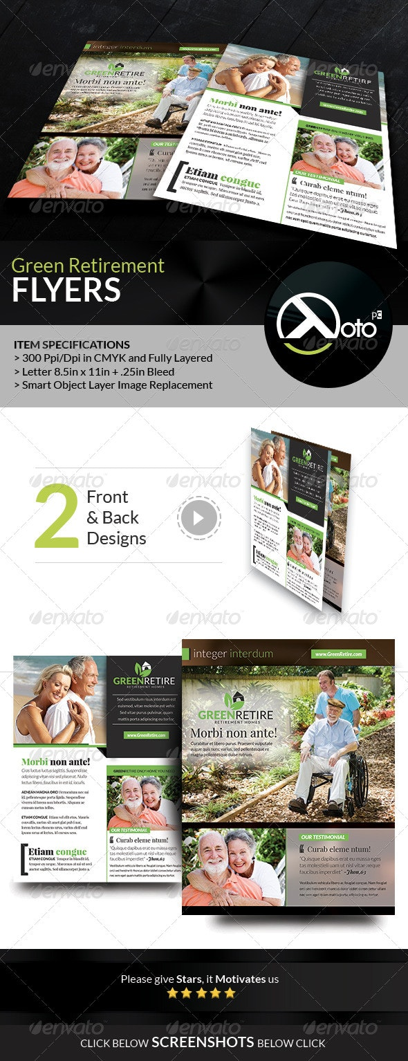 Green Retirement Homes Flyers - Corporate Flyers