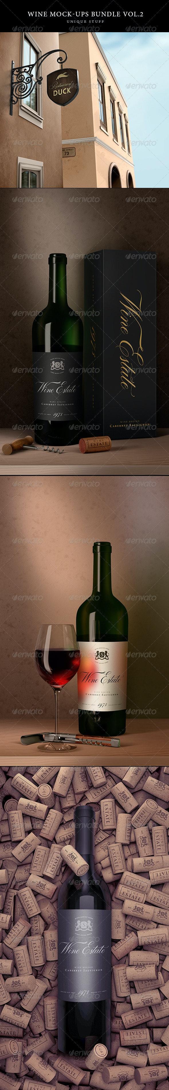 Wine Branding Bundle Vol.2 - Food and Drink Packaging