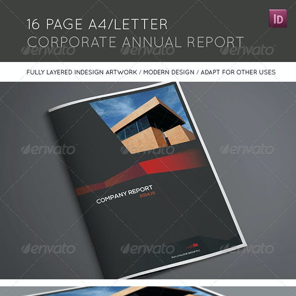 16 Page A4/Letter Corporate Annual Report