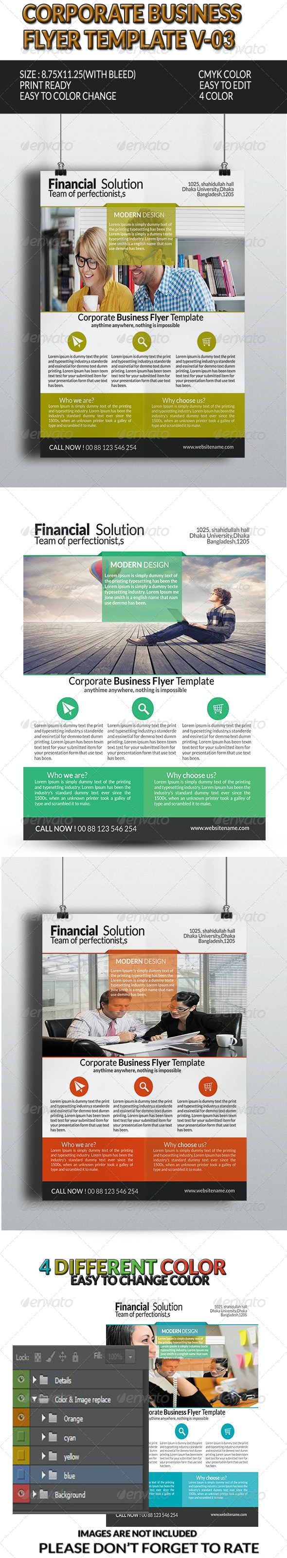 Corporate Business Flyer Template V-3 - Corporate Flyers