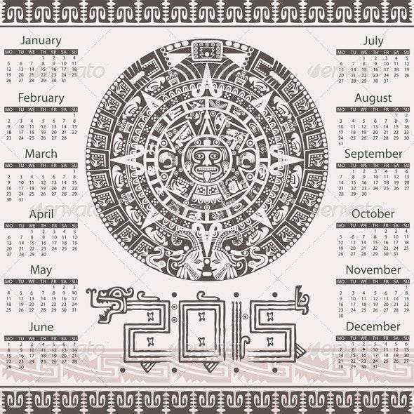 Aztec Calendar 2015 - Travel Conceptual