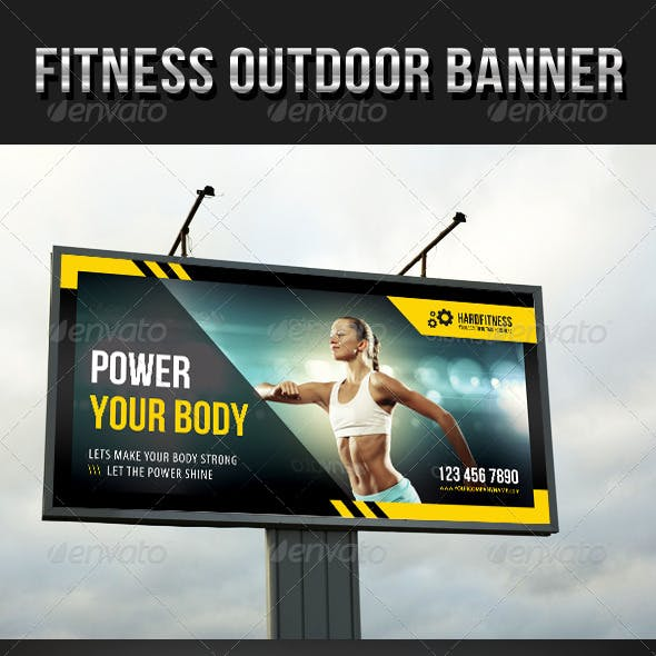 Fitness Outdoor Banner 12