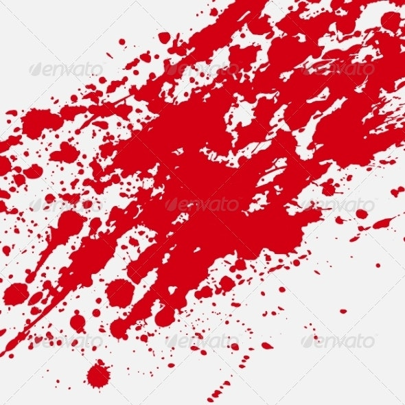 Red Bloody Blots and Splatters - Backgrounds Decorative