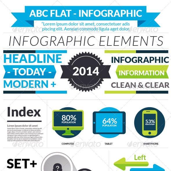 ABC Flat Infographic