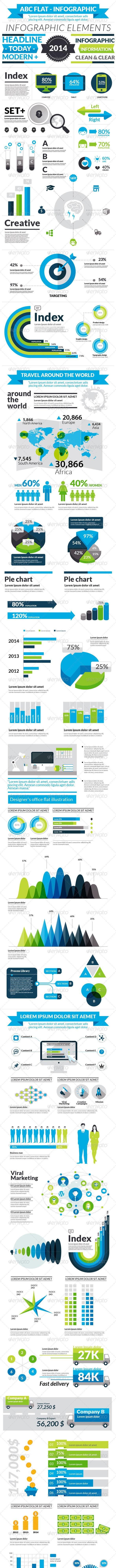 ABC Flat Infographic - Infographics