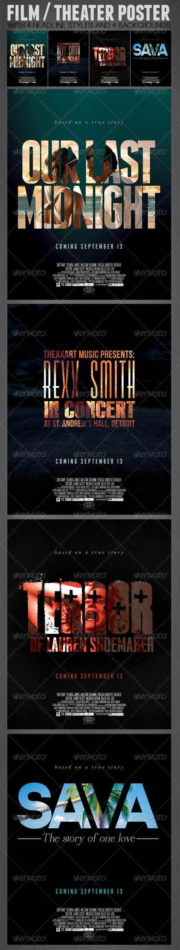 Film or Theater Poster  - Print Templates