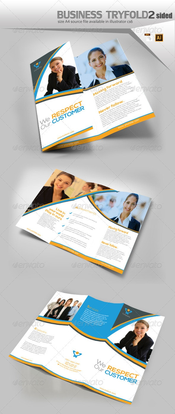 Business trifold Brochure - Print Templates