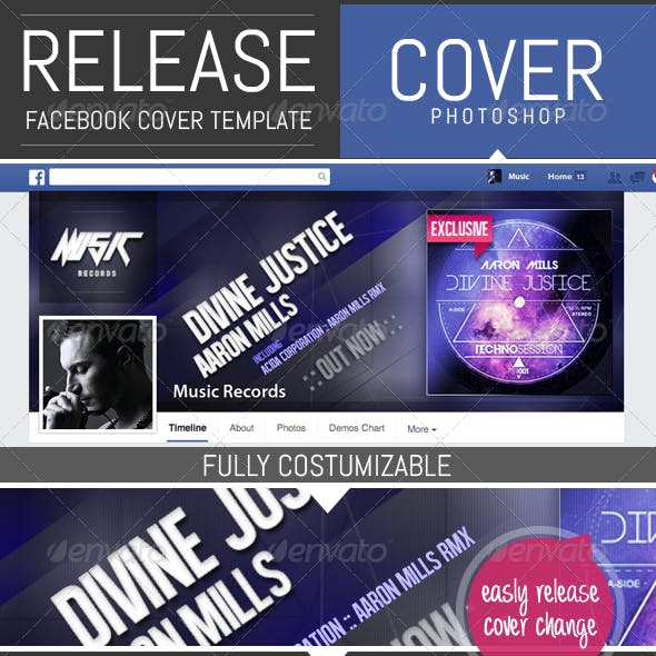 Release / EP Timeline Facebook Cover Template