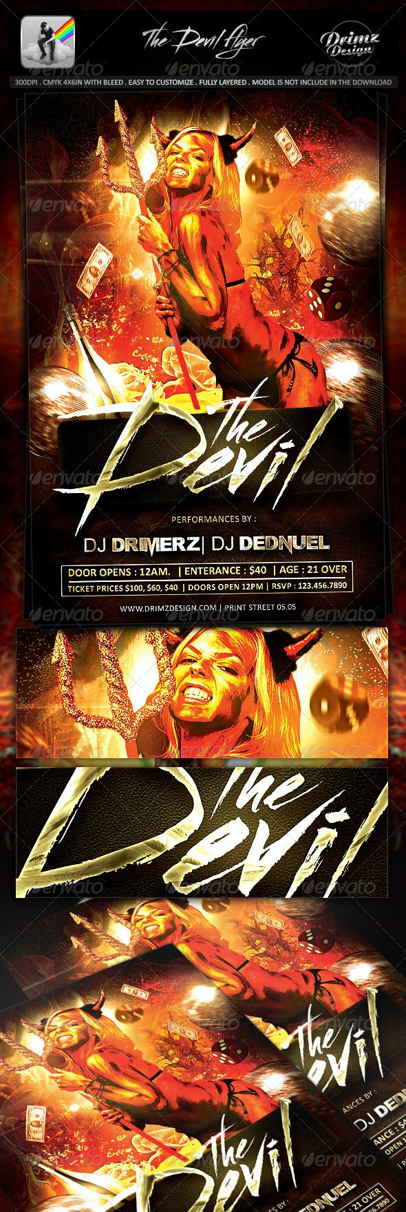 The Devil Flyer - Print Templates