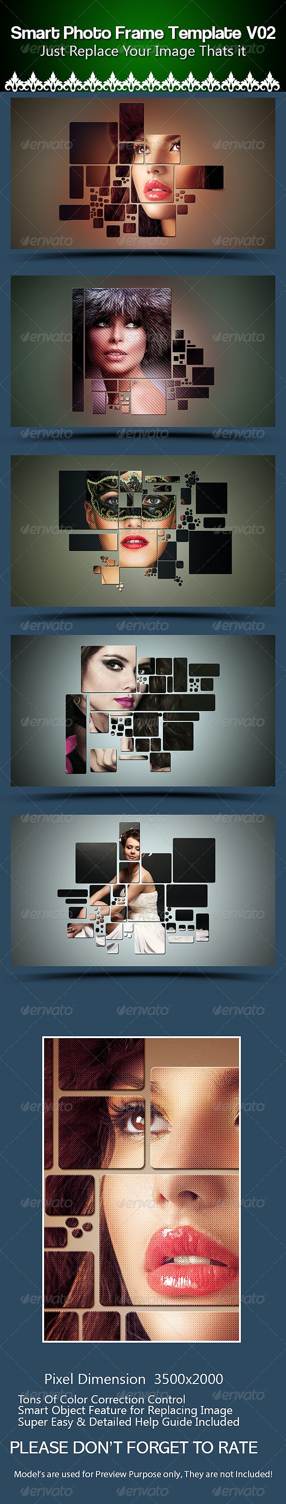 Smart  Photo Frame Template V02 - Photo Templates Graphics