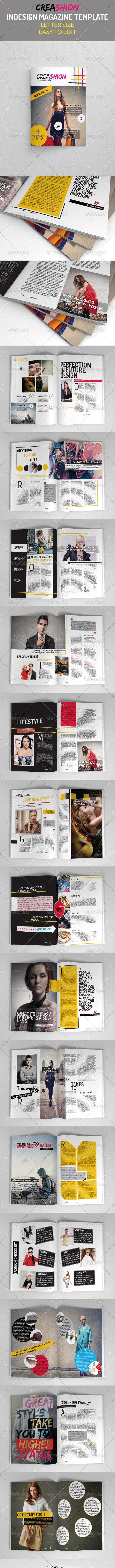 Creative Fashion Magazine - Magazines Print Templates
