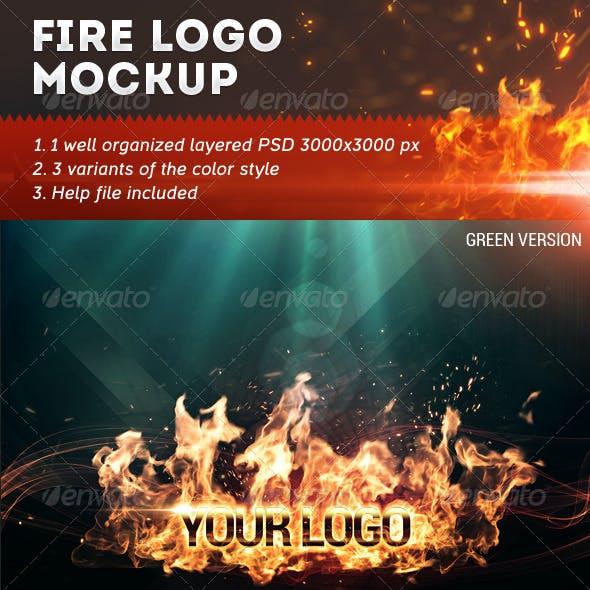 Fire Logo Mockup