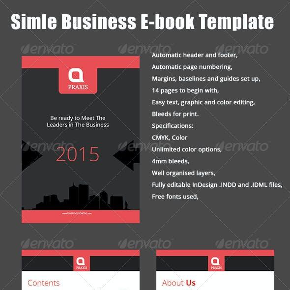Simple Business E-book Template.