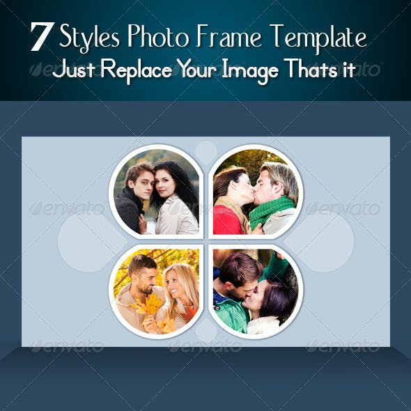 7 Styles Photo Frame Template