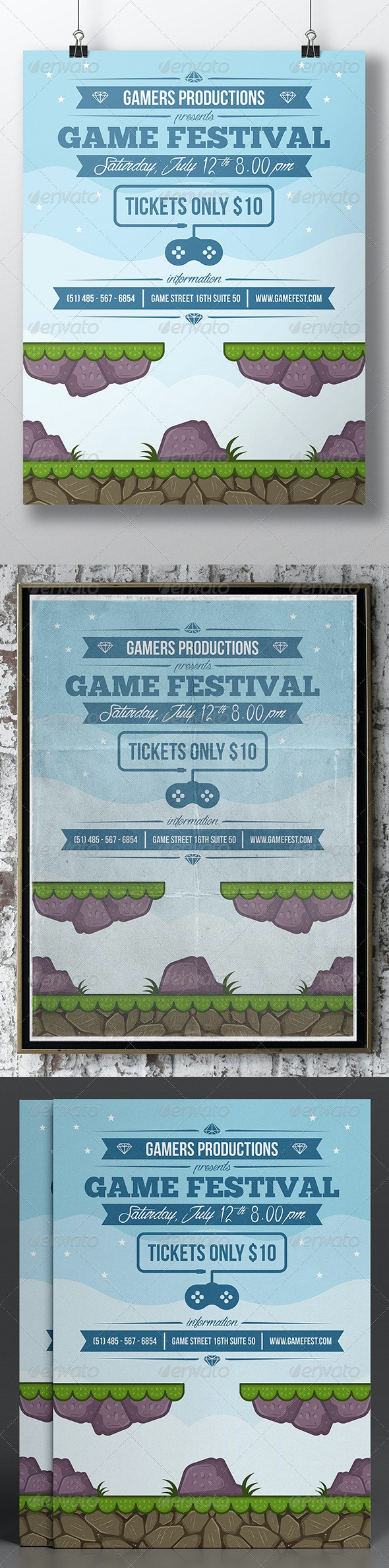 Game Night Poster Template - Miscellaneous Events