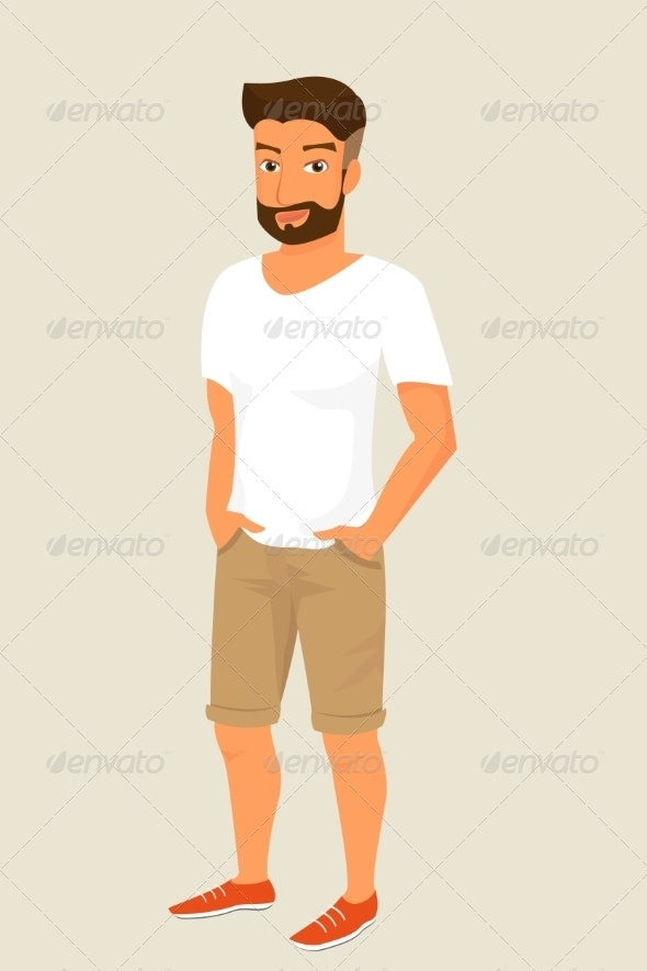 Guy with Stylish Haircut - People Characters
