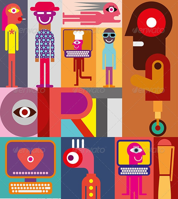 Art vector illustraion - People Characters