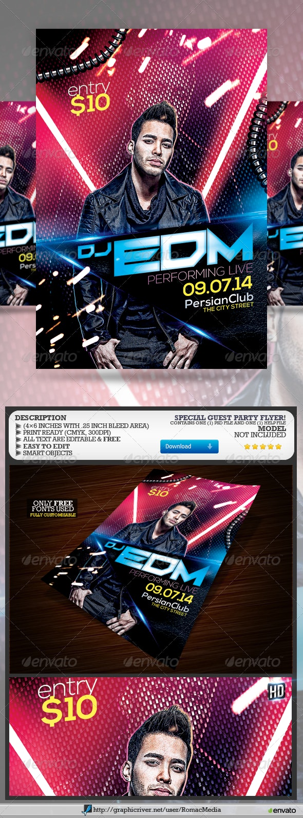 Special Guest Party Flyer - Clubs & Parties Events